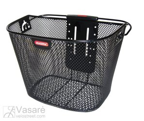 F.-Wheel Basket Klickfix black close-meshed, w/o Adapter, 16 Liter