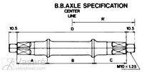 Axle BSA 3SS 121.5mm