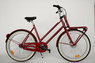 "Bicycle 26""Da-Al-CTY R53 7NY U TRAPEZ TRANSPORT  ~tango-red"