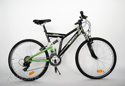"Jalgratas 26""He-St-SUS R48 T21  F SUSPEN Arrant black/vibrant green"