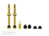 Bekamerinių padangų vožtuvų k-tas Muc-Off 60mm aukso spalvos