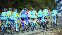 TACX training with Pro team Astana