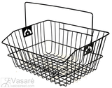 Wire basket juodas