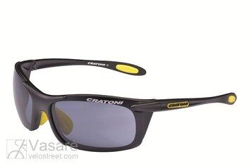 Akiniai Cratoni Air Blast, juoda matinė+geltona