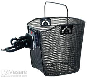 Metalinis krepšys juodas su universaliu laikikliu