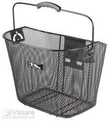 Metalinis krepšys juodas su universaliu laikikliu 22,2-31,8mm