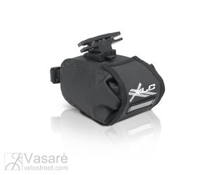 Krepšelis po balneliu XLC  BA-W22 juodas/grafitas, atsparus vandeniui