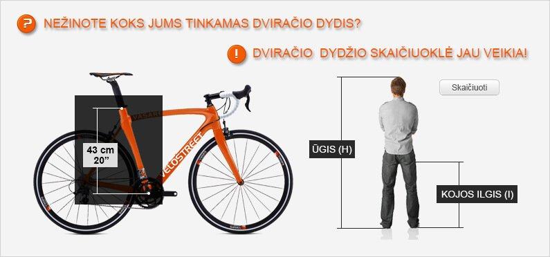 dviracio dydzio skaiciuokle