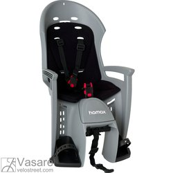 Baby-seat rear Hamax PLUS Smiley gey/black