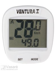 Bicycle Computer Ventura 10 functions white