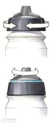 Bottle Shanti 500 ml grey