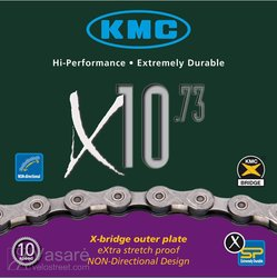 Chain KMC X-10-73, 30sp. 116links 1/2 x 11/128