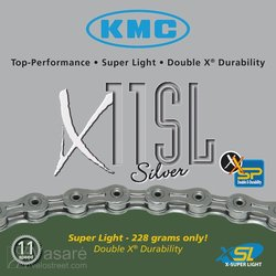 Chain KMC X-11 SL silver, 11sp. 224g. 112 links 1/2 x 11/128