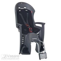 Vaikiška kėdutė Hamax Smiley su užrakinamu laikikliu pilka /juoda