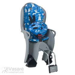 Child-seat rear Hamax Kiss grey/blue with helmet