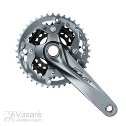 Crankset 9-speed Grey FC-M4050  46X36X26T 175mm Alivio