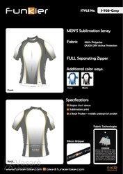 Funkier Mens Sublimation  Jersey