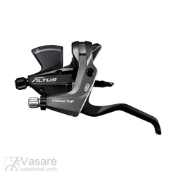 Gear brake shifter Shimano Altus ST-M370 Black w/brake lever 3sp