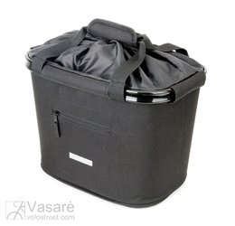 handlebar basket bag Bluebird w QRholder black 35.9x26.4x27.3 cm 20 ltr.