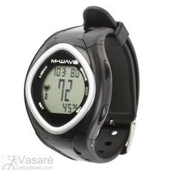 "Heart Rate Monitor, M-WAVE  ""BEAT 30"", 30 functions, incl. batteries, incl., adapter for handlebar mount, box"