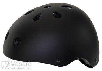 Šalmas BMX dydis: L, juodas matinis