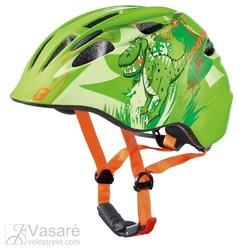 Vaikiškas šalmas Cratoni Akino dino green glossy