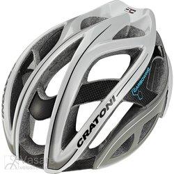 Helmet CRATONI TERRON ROAD white/anhracite glossy
