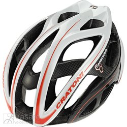 Helmet CRATONI TERRON ROAD white/black/red glossy