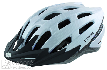 Helmet for adults, size 58 - 61 cm, with visor, carbon white