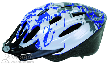 Helmet for youth M size54-58 Blue Spots