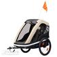 Daugiafunkcinis vežimėlis dviračio priekaba vaikui 2 vietė Hamax AVENIDA TWIN Coffee