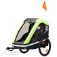 Daugiafunkcinis vežimėlis dviračio priekaba vaikui 2 vietė Hamax AVENIDA TWIN Lime
