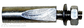 Pleištas plieninis 9,5mm su ilgu nupjovimu