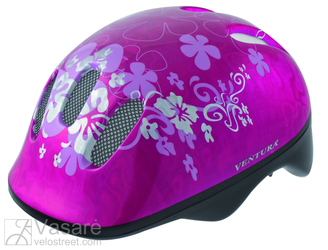 Kids Helmet, Flower pink