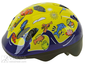 Kids Helmet Sea-world yellow