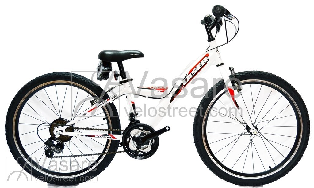54d396725c6 Велосипед Drag Laser 24 white/red - Детские - Велосипеды