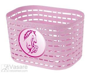 Krepšelis plastikinis vaikiškas pink