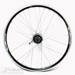 Rear wheel 28, 36 spokes, Shimano Nexus 7sp. hub with coaster brake, black