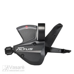 SHIFT LEVER, SL-M370-L, ALTUS, LEFT 3-SPEED 1800MM INNER, W/ OPTICAL GEAR DISPLAY, BLACK