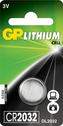 Battery GP CR2032, 3V, Lithium, 1pcs.