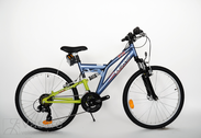 "Bicycle 24""He-St-SUS R38 T21 F D-TYPE Magma-pearl/lime green"