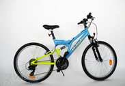 """Bicycle 24"""" He-St-SUS R38 T21 F D-TYPE Sport-blue/Neon-yellow"""