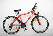 "Fahrrad 26""He-Al-DRT R48 T21 F DIRT Arrant red"