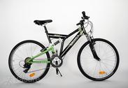 """велосипед 26""""He-St-SUS R48 T21  F SUSPEN Arrant black/vibrant green"""