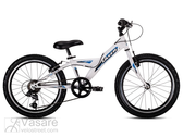 Jalgratas Drag Laser 20 White Blue