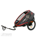 Bicycle trailer for children Hamax Outback ONE Red Charcoal