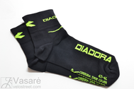 DIADORA socks cotton L-size NERO