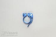 Balnelio spaustukas Seat Clamp JD-SC10 Blue Anod. Al QR 31,8