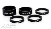 "XLC A-Head Spacer-Set 3x5, 1x10, 1x15 mm, 1,1/8"" black"
