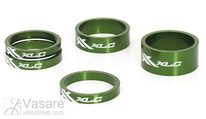 "XLC A-Head Spacer-Set AS-A02 3 x 5, 1 x 10, 1 x 15, 1 1/8"" green"